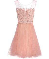 Luxuar Fashion Robe de soirée apricot/nude