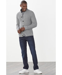 Esprit Pletená bunda se strukturou, 100% bavlna