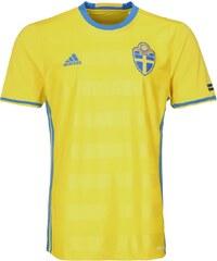 adidas Performance SVFF SWEDEN Tshirt de sport jaune/bleu
