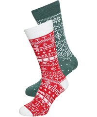 YOUR TURN 2 PACK Chaussettes red/green