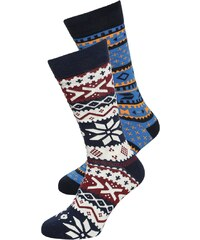 YOUR TURN 2 PACK Chaussettes multicolor/dark blue