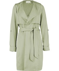 mint&berry Trench dusky green
