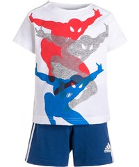 adidas Performance SPIDERMAN SET Tshirt imprimé white/blue/bold orange