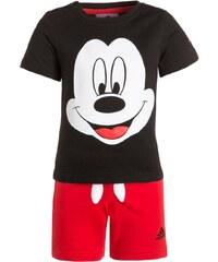 adidas Performance MICKEY SET Tshirt imprimé black/white/vivid red