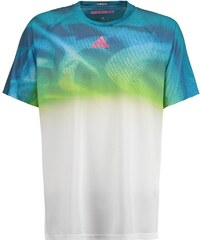 adidas Performance ADIZERO Tshirt de sport white/equate green