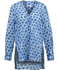 0039 Italy Blouse dunkelblau/weiß