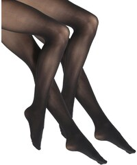 DKNY Intimates OPAQUE 2 PACK Collants black/black