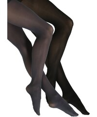 DKNY Intimates OPAQUE 2 PACK Collants flannel grey/black