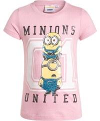 Minions Tshirt imprimé rose