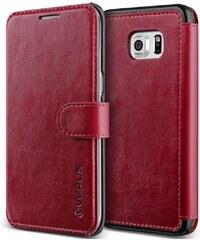 Verus Dandy Layered Leather Case pro Samsung Galaxy S6 edge plus vínový/černý