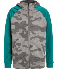 adidas Performance Sweat zippé core heather/dark grey/green
