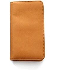 Jill-e Jack Leo Leather Smartphone Wallet - žlutohnědá