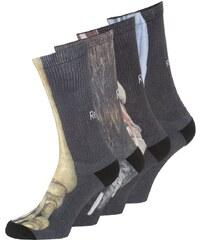 Reebok 4 PACK Chaussettes de sport black