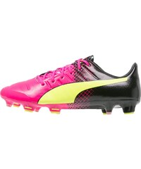 Puma EVOPOWER 1.3 TRICKS FG Chaussures de foot à crampons pink/neongelb