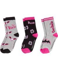 Chica Vampiro 3 er Pack Socken grau in Größe 27-30 für Mädchen aus 65% Baumwolle 33% Polyester 2% Elasthan