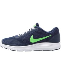 Nike Performance REVOLUTION 3 Chaussures de running neutres deep royal blue/voltage green/white