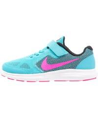 Nike Performance REVOLUTION 3 Chaussures de running neutres gamma blue/pink blast/black/white/ghost green