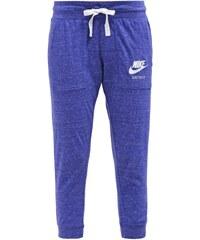 Nike Sportswear GYM VINTAGE Pantalon de survêtement bleu foncé/blanc