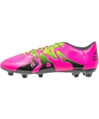 adidas Performance X 15.3 FG/AG Chaussures de foot à crampons shock pink/solar green/core black