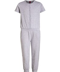 s.Oliver Pyjama grau melange/weiß