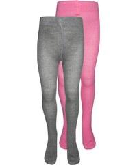 TOM TAILOR 2 PACK Collants pink/grey melange