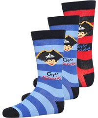 Coppenrath Verlag CAPT'N SHARKY 3 PACK Chaussettes hautes navy/red