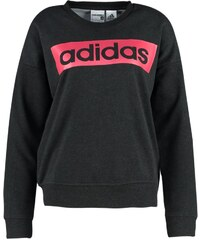 adidas Performance ESSENTIALS LINEAR Sweatshirt black melange/joy