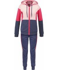 adidas Performance YOUNG Survêtement utility blue/vapour pink/joy