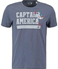 adidas Performance CAPTAIN AMERICA Tshirt imprimé utility blue