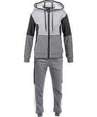 adidas Performance YOUNG Survêtement dark grey heather/medium grey heather/black