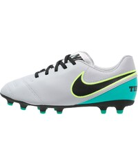Nike Performance TIEMPO RIO III FG Chaussures de foot à crampons wolf grey/black/clear jade/metallic silver/ghost green