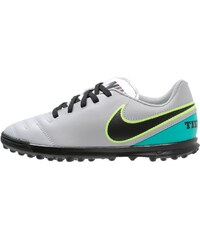Nike Performance TIEMPO RIO III TF Chaussures de foot multicrampons wolf grey/black/clear jade/metallic silver/ghost green