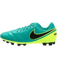 Nike Performance TIEMPO GENIO II AGR Chaussures de foot à crampons clear jade/black/volt