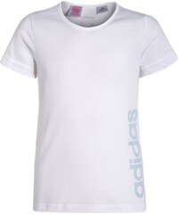 adidas Performance ESSENTIALS Tshirt imprimé white/iceblue