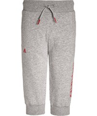 adidas Performance ESSENTIALS Pantalon 3/4 de sport medium grey heather/ray red