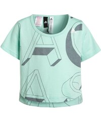 adidas Performance Tshirt imprimé ice green/grey