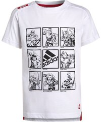 adidas Performance THE AVENGERS Tshirt imprimé white/scarlet