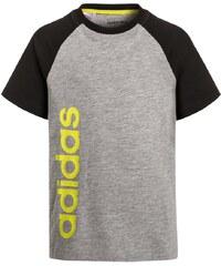 adidas Performance ESSENTIALS Tshirt imprimé medium grey heather/black