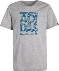 adidas Performance Tshirt imprimé medium grey heather