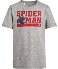 adidas Performance SPIDERMAN Tshirt imprimé medium grey heather