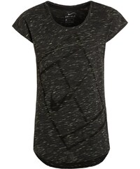 Nike Performance BASELINE Tshirt de sport black/volt/white