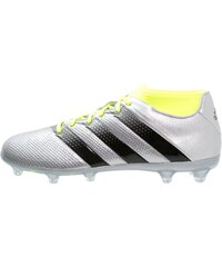 adidas Performance ACE 16.2 PRIMEMESH FG/AG Chaussures de foot à crampons silver metallic/core black/solar yellow