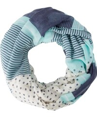 Even&Odd Écharpe tube turquoise/navy