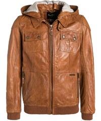 Pepe Jeans JAMES Veste en cuir nut brown