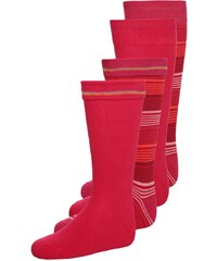 camano 4 PACK Chaussettes hautes pink rose/pink rose