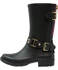 Colors of California Bottes en caoutchouc black/fuchsia