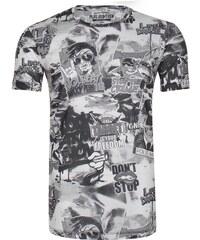 PLUS EIGHTEEN Tshirt imprimé black/white