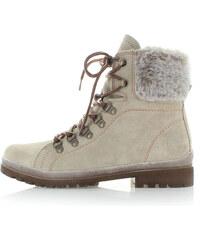 Šedo-béžové boty Tamaris 26239