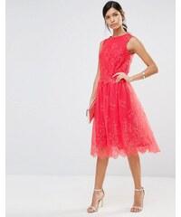 HUSH HUSH Krajková sukně v odstínech papáji