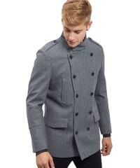 ELISE RYAN Vlněný krátký kabát v šedém odstínu